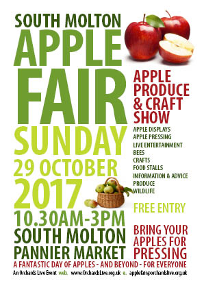 A poster for the South Molton Apple Fair 2017